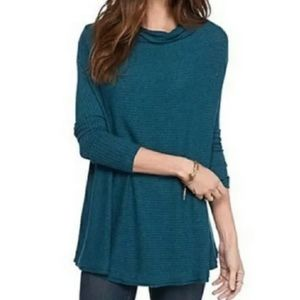 We the free teal cowl neck sweater small
